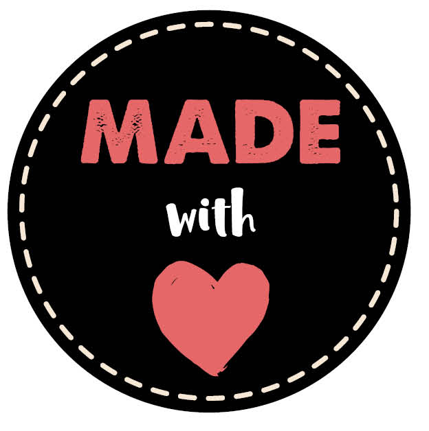 Sticker 'Made with love' /50mm