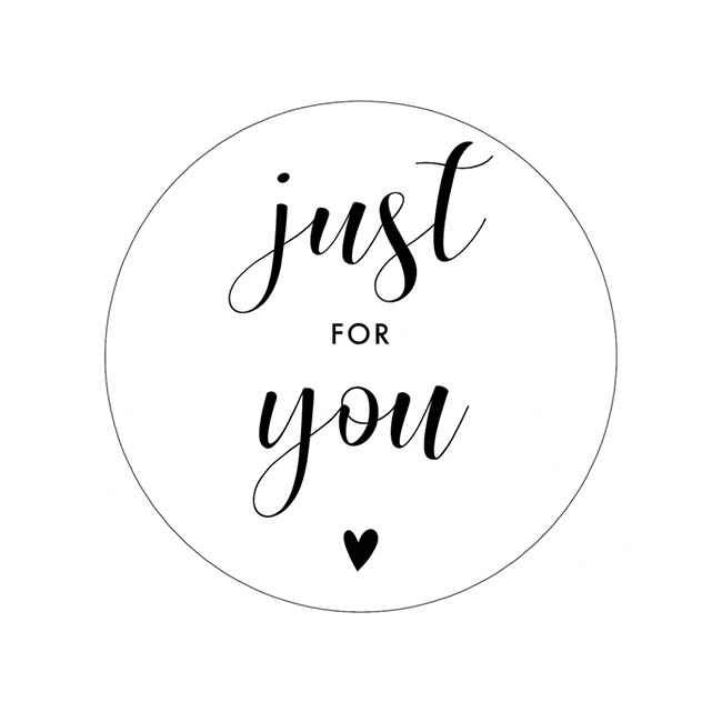 Sticker 'Just for you' /50mm