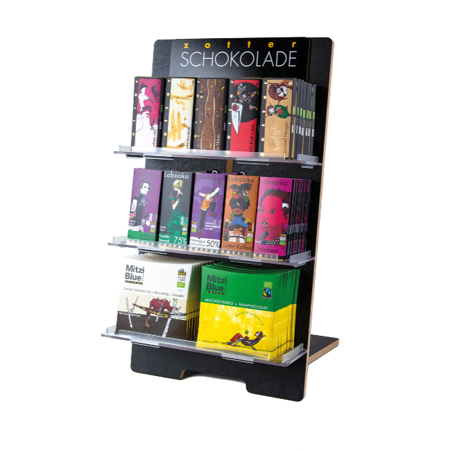 Zotter Counter Display – zwart